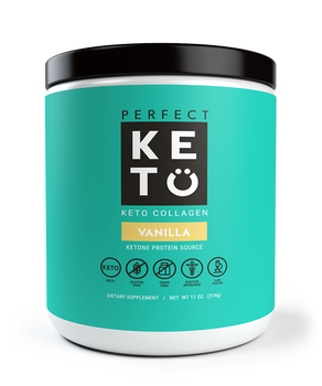 Perfect Keto Vanilla Collagen Protein Shake Keto Friendly Protein Shake