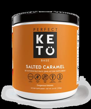 Perfect Keto Salted Caramel Betahydroxybytyrate (BHB) Ketone Supplement
