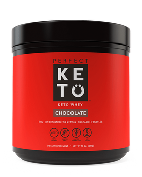 Perfect Keto Chocolate Whey Protein Shake. Ketosis Protein shake with MCTs