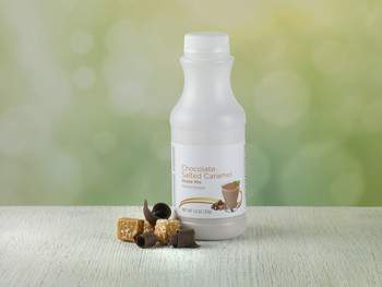 Chocolate Salted Caramel Powder in a bottle Meal Replacement Shake and Pudding Mix