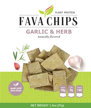 Garlic & Herb Fava Chips