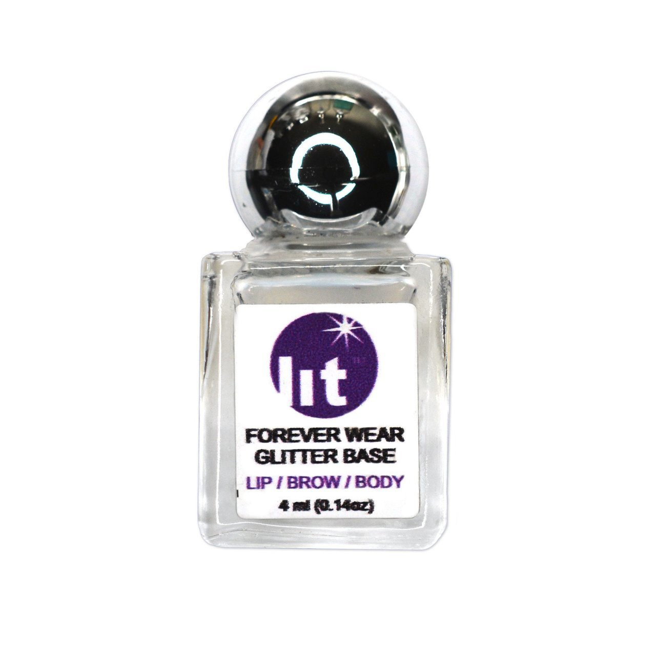 Lit Cosmetics Forever Wear Glitter Base, 4 ml | Professional Makeup for Live Performance | PNTA