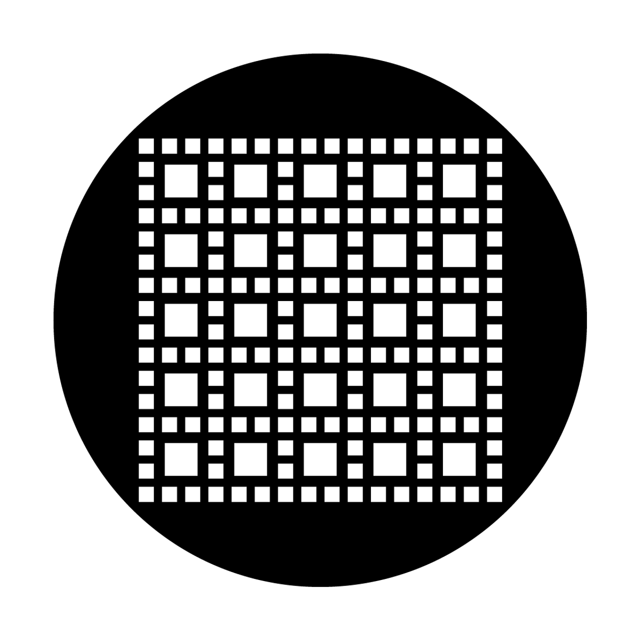 Apollo Design MEDS-8025 M  Nelson - Square Square Grid Pattern