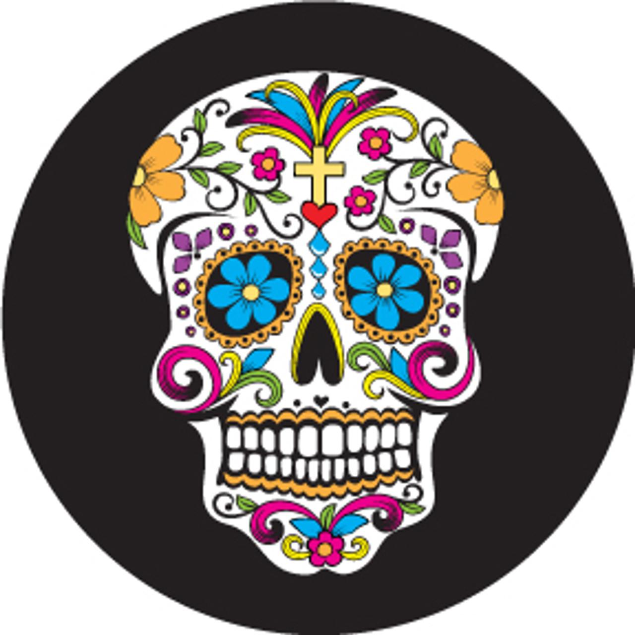 - Rosco 86717 Day Of The Dead Sugar Skull Multi-Color Glass Pattern