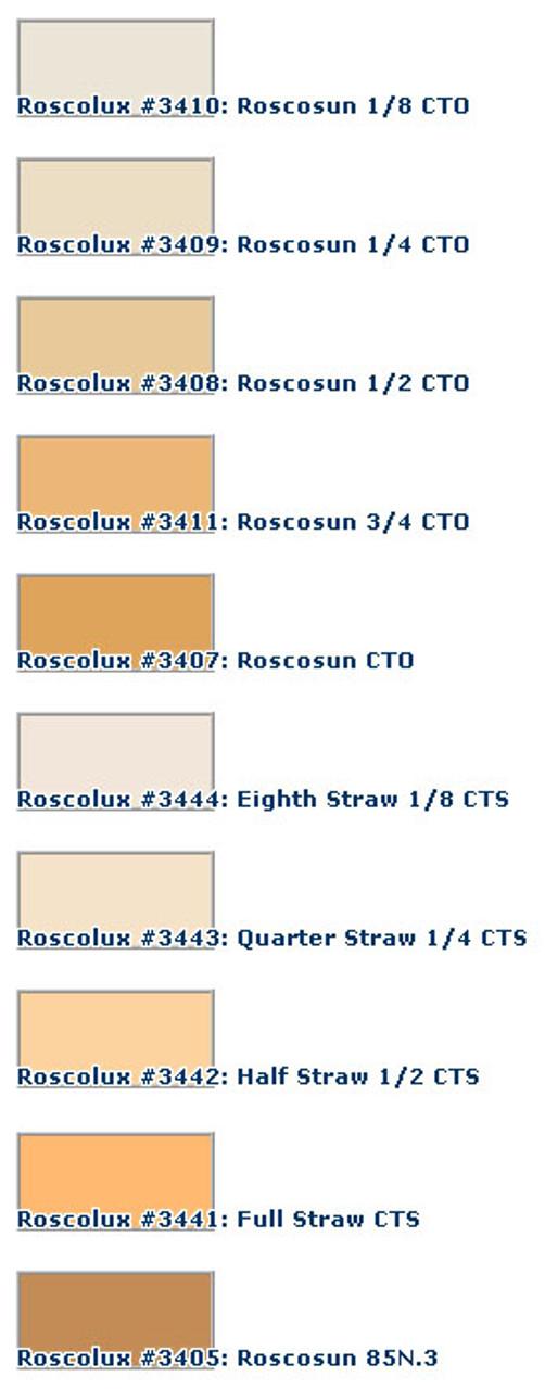 "20x24/"" Sheet RoscoSun CTO Rosco Cinegel #3407 Filter"