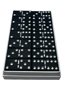 Black Aluminum Anodized Dominoes, Custom dominoes