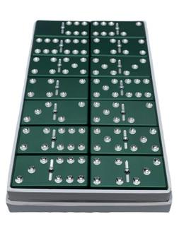 Green Dominoes, Dominoes, aluminum dominoes, metal dominoes