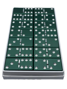 Green Dominoes, Dominoes, aluminum dominoes, metal dominoes