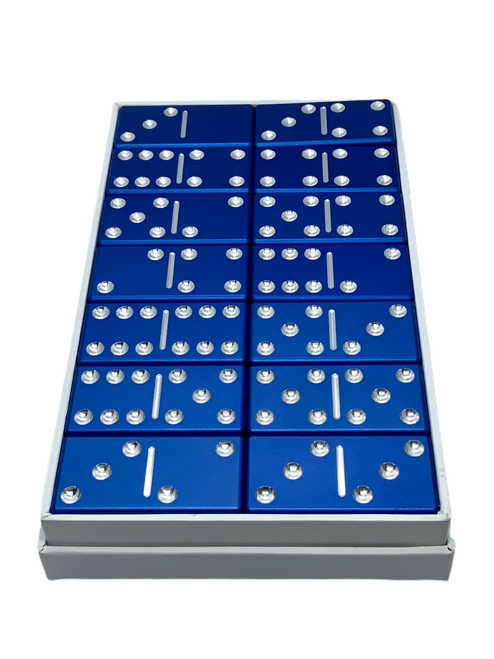 Basic domino set with no engraving. This shade of blue will be available in a August 2021.