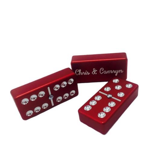 Dominoes, red dominoes