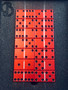 Swarovski crystal domino set, Tournament, Tournament double 6, custom dominoes, Aluminum dominoes, red dominoes