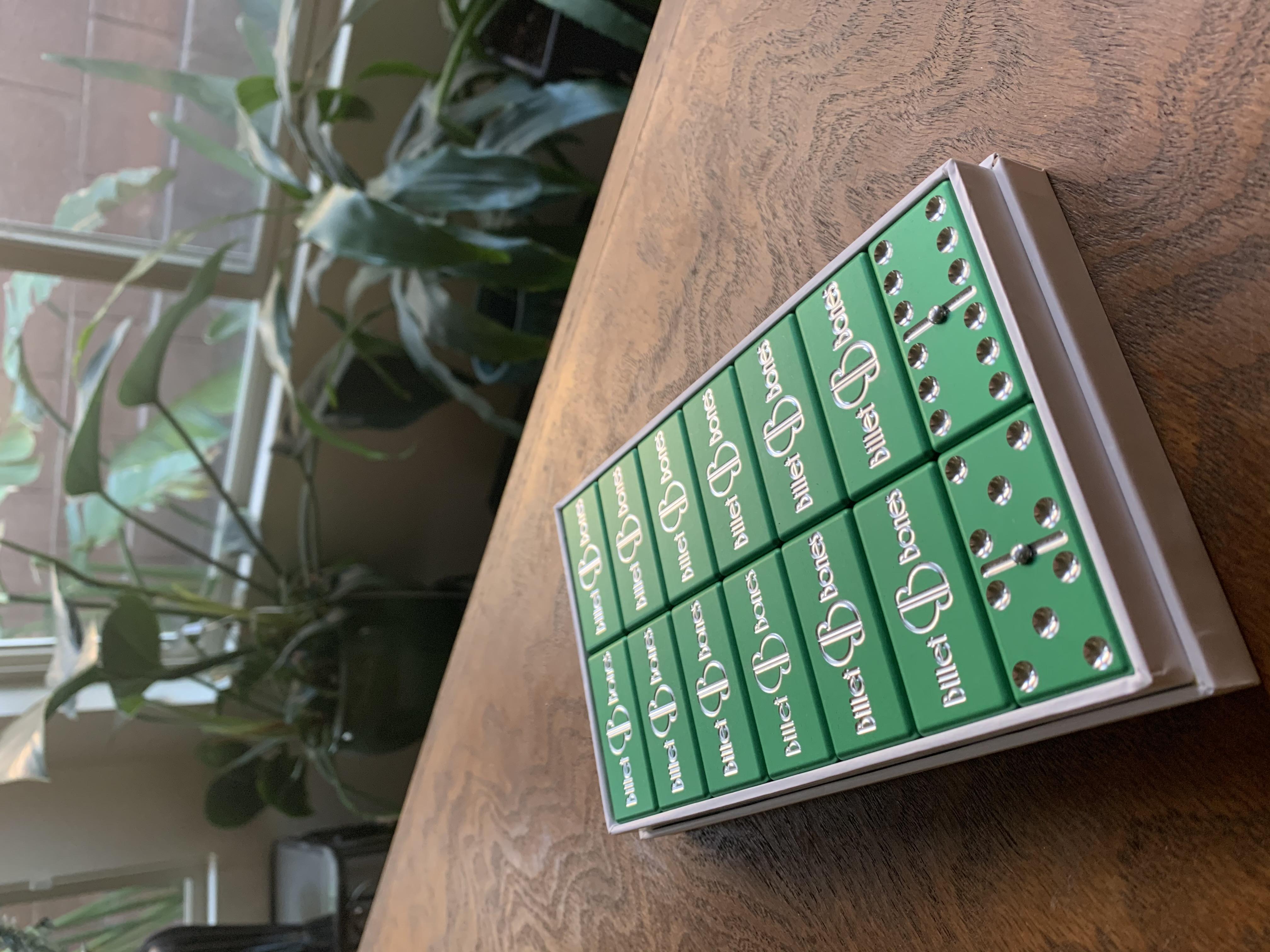 Green Dominoes, Aluminum Dominoes, Light Green Dominoes, Custom dominoes