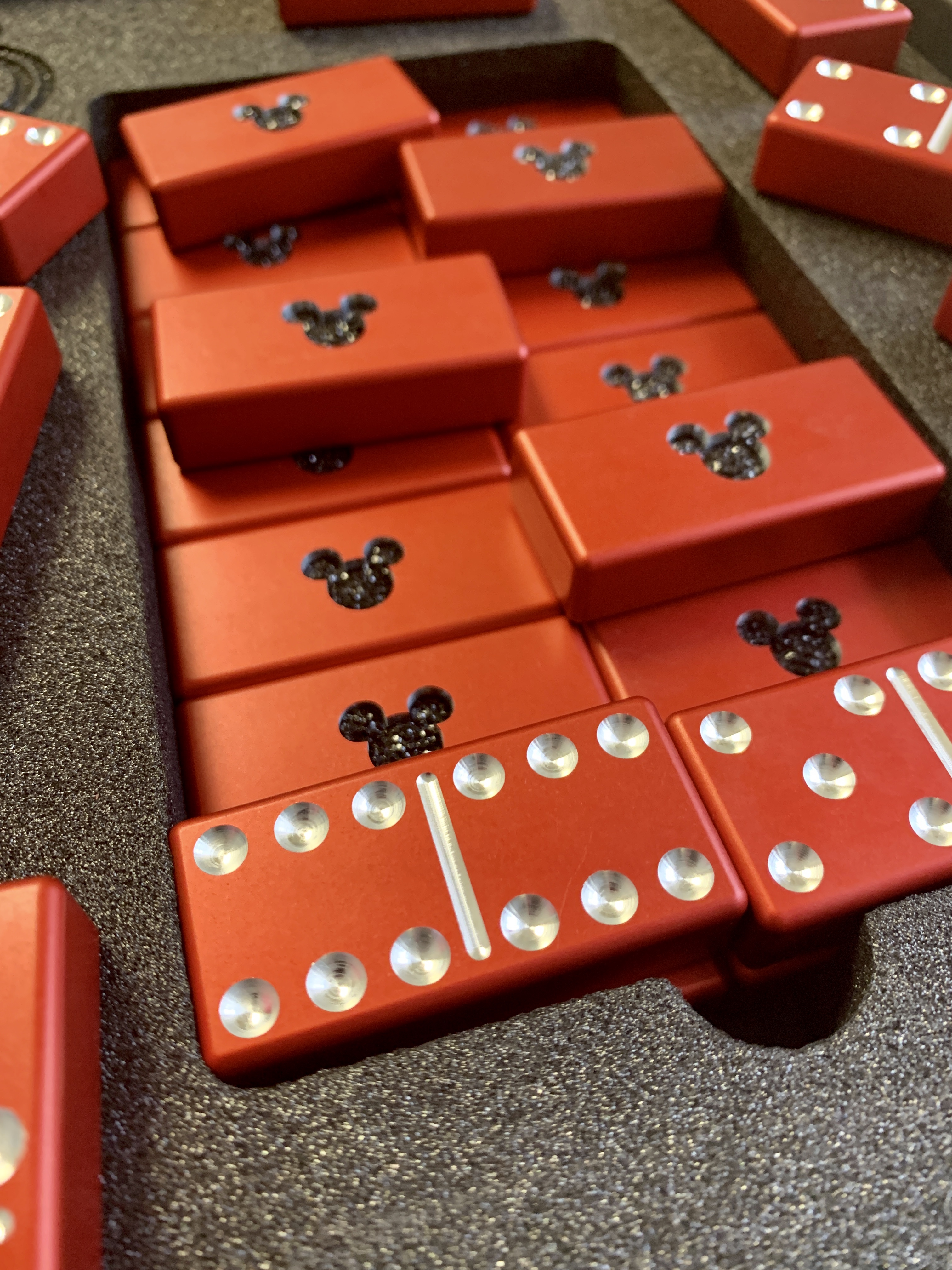 Red Dominoes, Aluminum Dominoes, Light Green Dominoes, Custom dominoes