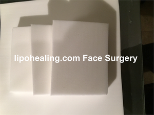 Lipo Foam Mini Sheets gives uniform smooth compression over a suctioned area. It is ideal for or any area uniform healing is necessary. Lipo Foam can be inserted between a garment and suctioned areas or adhered to the surface.