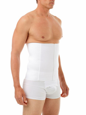 Liposuction of the abdomen and flanks, Tummy Tuck, Lipoplasty, Hernia Surgery, Back Support.  Features: Designed with a three or four (men) panel Velcro closure.