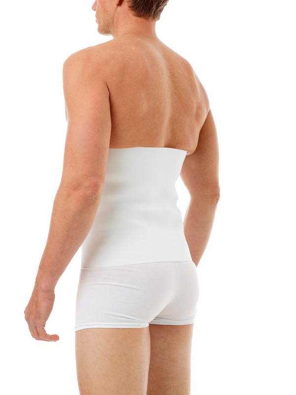 """Applicable Procedures: Liposuction of the abdomen and flanks, Tummy Tuck, Lipoplasty, Hernia Surgery, Back Support.  Features: Designed with a three panel Velcro closure. Click on measuring chart for sizes. Highly recommended to provide more compression after suregery.     Improves blood circulation, minimizes swelling after the procedure, flushes the body out of potentially harmful fluids, accelerates the healing process, and allows the patient to return to daily routines sooner.  Also provides support to surgical areas for more comfort and helps the skin fit better to it new contours. Constructed with woven elastic anti-roll material for more durable compression and performance.  Features a soft plush side that feels comfortable against the skin.   Has a hook engage-able material on the outside enables you to adjust the right amount of  pressure or support you feel most comfortable with. It also allows the Velcro to attach anywhere on the binder for precise fit and even compression. Made up of three 3"""" panels (9"""") for better flexibility which helps the skin fit better to it's new contours.  Typically used by women or people with shorter torsos following liposuction of the abdomen and flanks, tummy tuck or hernia surgery. Gives a soft & flexible Velcro hook for a tight snug fit that lasts.  100% Latex Free."""