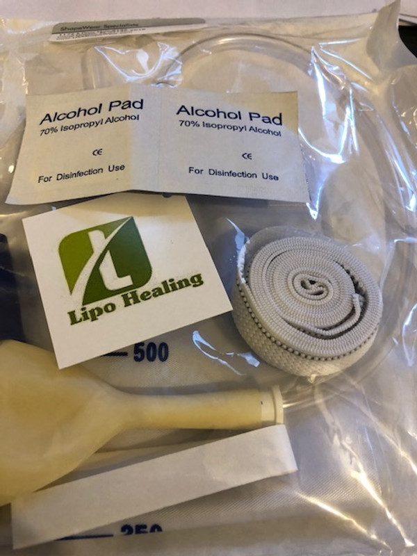 Urine Leg Bag Collector Catheter Male PORTABLE Wearable Men's Urinal 750ml KIT FREE LIPOFOAM COMFORT STRIPS AND ALCOHOL PADS BY LIPOHEALING, CORP.