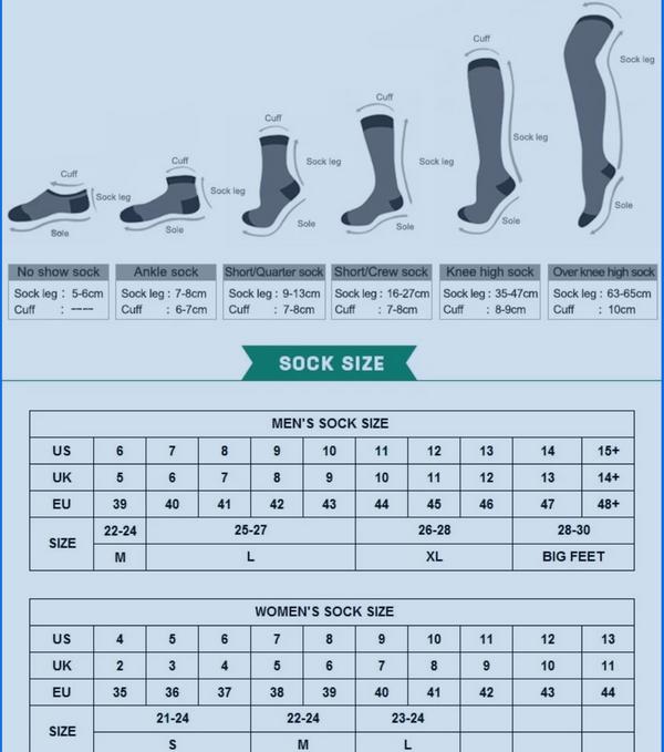 Compression Socks USA Free Sanitizer Pen and Lipofoam Strip UNISEX 20-30 mmg