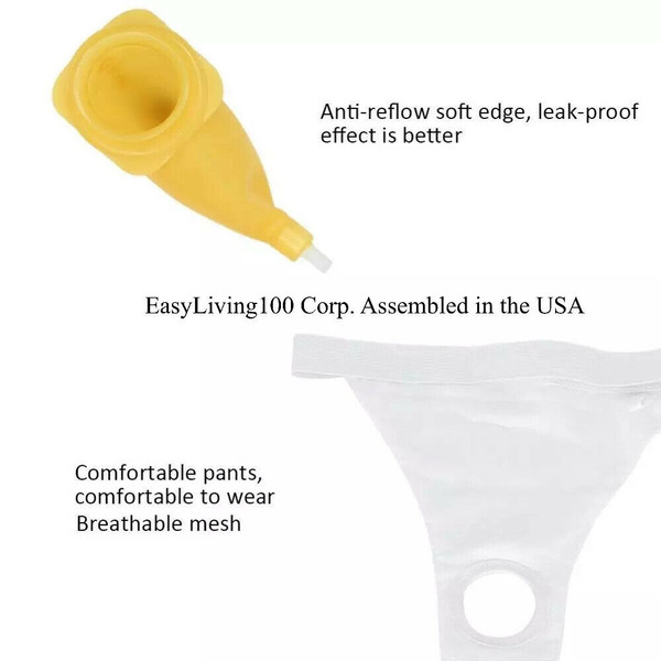 UNISEX URINAL AND UNDERPANTS FREE BONUS BY EASYLIVING100, CORP. USA ASSEMBLED