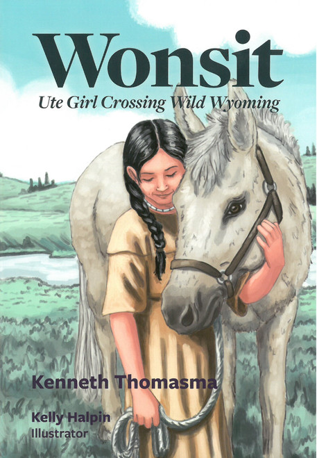 Amazing Indian Children: Wonsit, Ute Girl Crossing Wild Wyoming