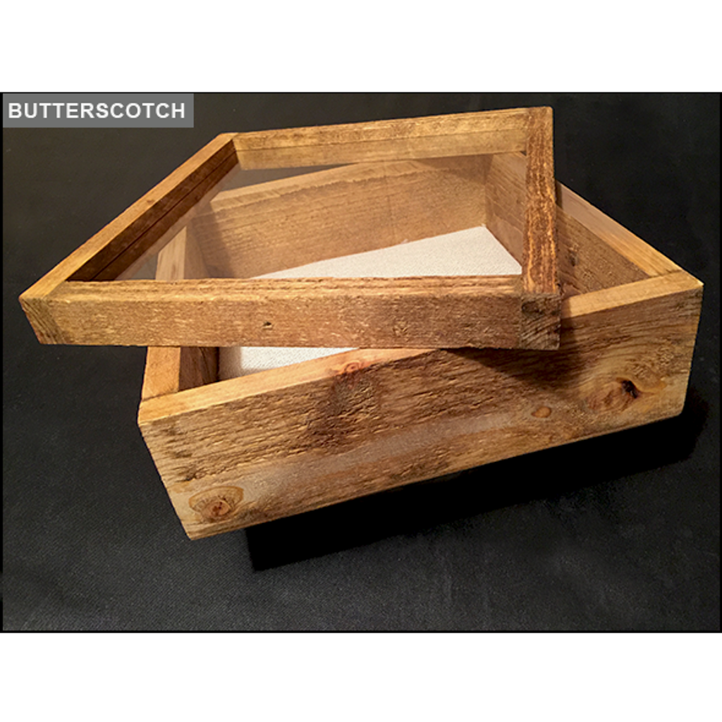 "Shadow Box - Artisan Rustic -16""W x 20""H x 1""D Butterscotch"