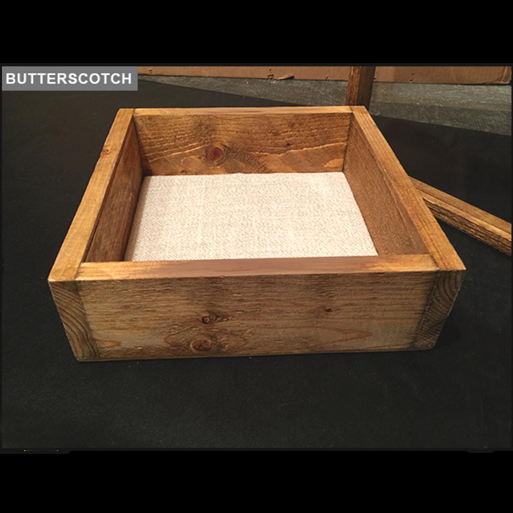 "Shadow Box - Artisan Rustic -16""W x 20""H x 3""D Butterscotch"