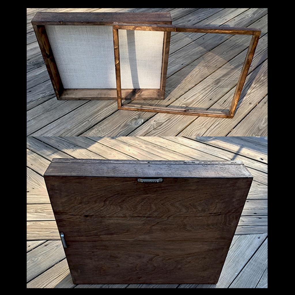 """Shadow Box - Artisan Rustic -16""""W x 20""""H x 3""""D Espresso"""