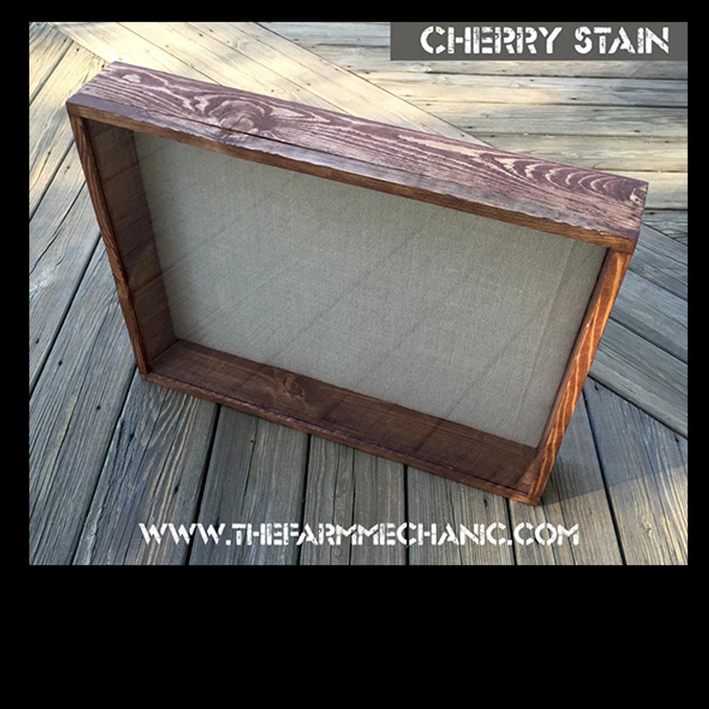 "Shadow Box - Artisan Rustic -16""W x 16""H x 3""D Cherry"