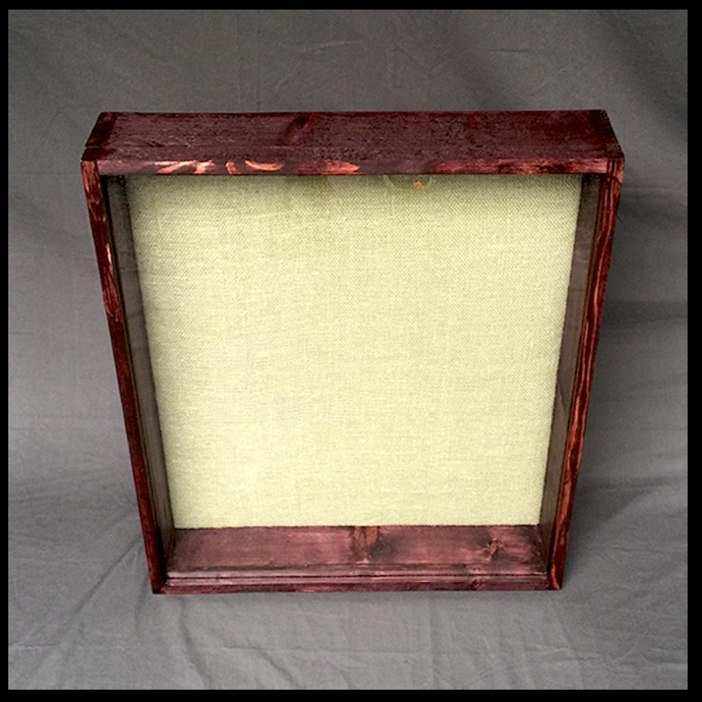 """Shadow Box - Artisan Rustic -16""""W x 16""""H x 3""""D Black Cherry"""