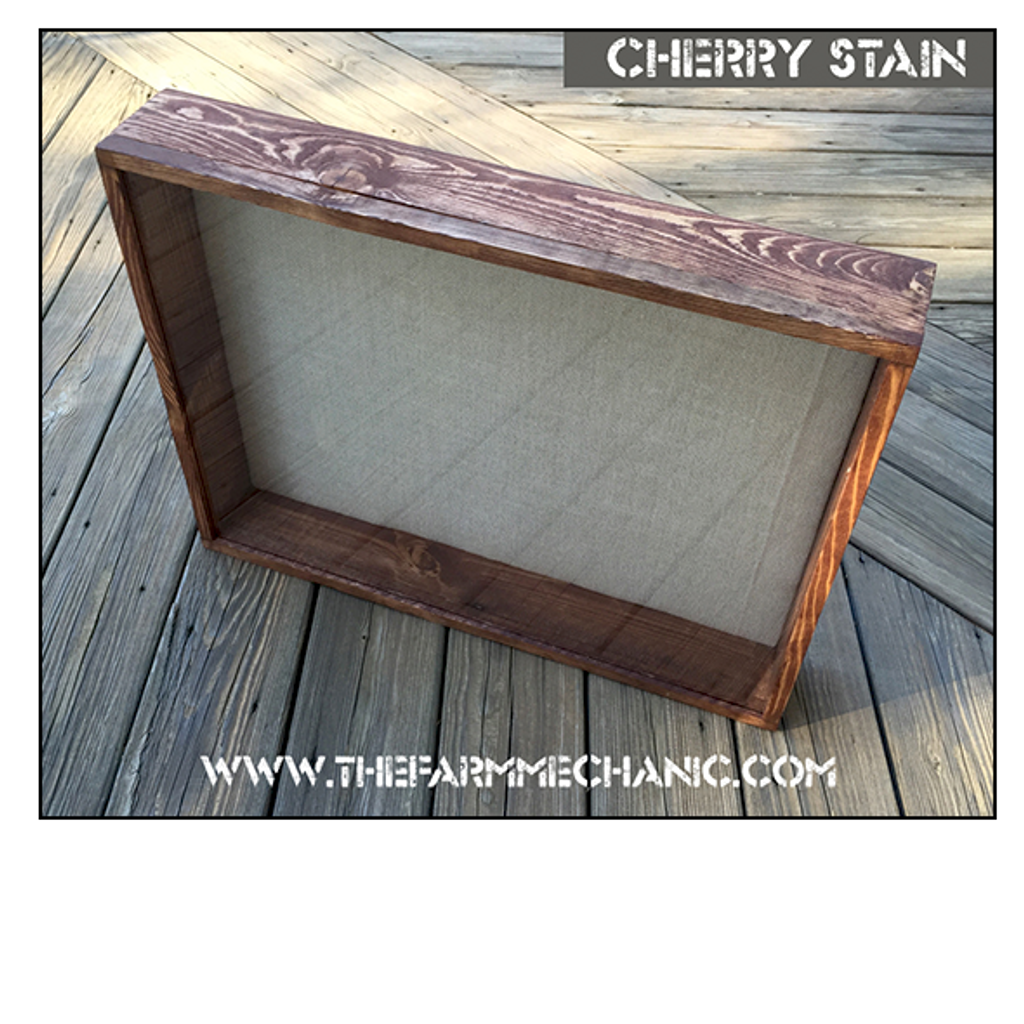 "Shadow Box - Artisan Rustic -20""W x 20""H x 2""D Cherry"