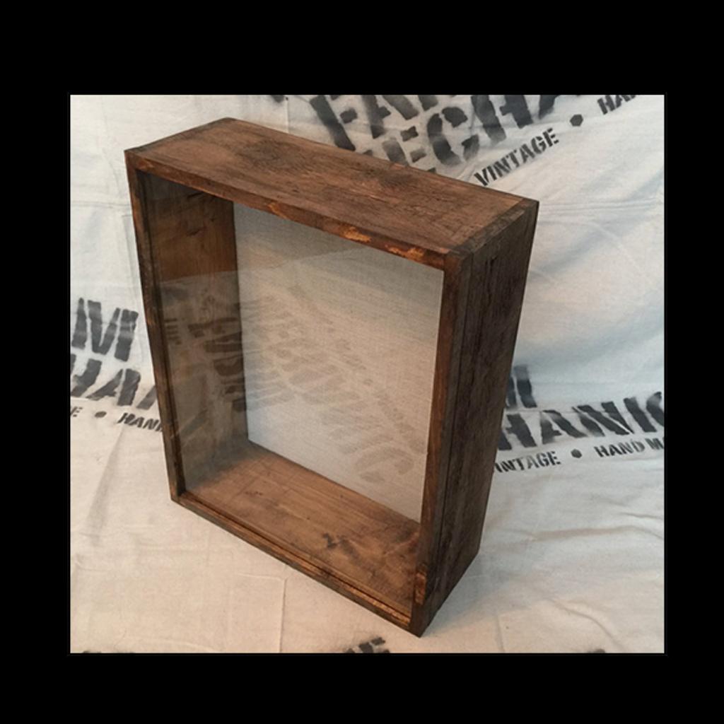 "Shadow Box - Artisan Rustic -16""W x 20""H x 6""D EspressoShadow Box - Artisan Rustic -16""W x 20""H x 6""D"