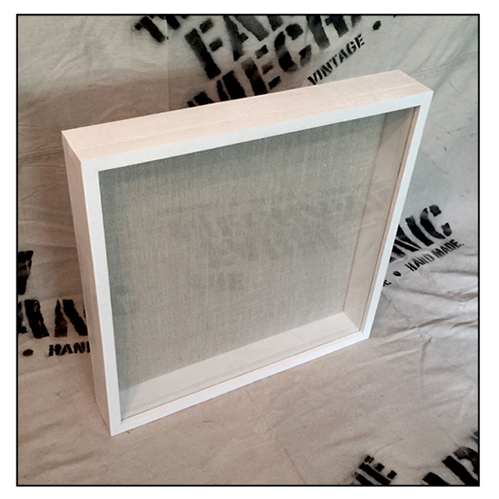 "Shadow Box - Artisan Rustic -16"" W x 20"" H x 4"" D White"