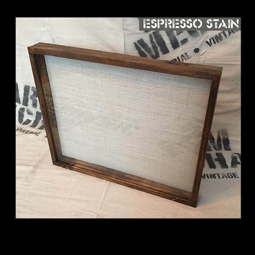 """Shadow Box - Artisan Rustic -18"""" W x 24"""" H x 1"""" D Espresso"""