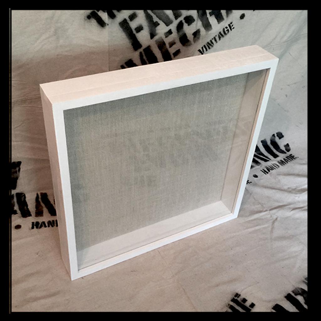 "Shadow Box - Artisan Rustic -24"" W x 20"" H x 2"" D White"