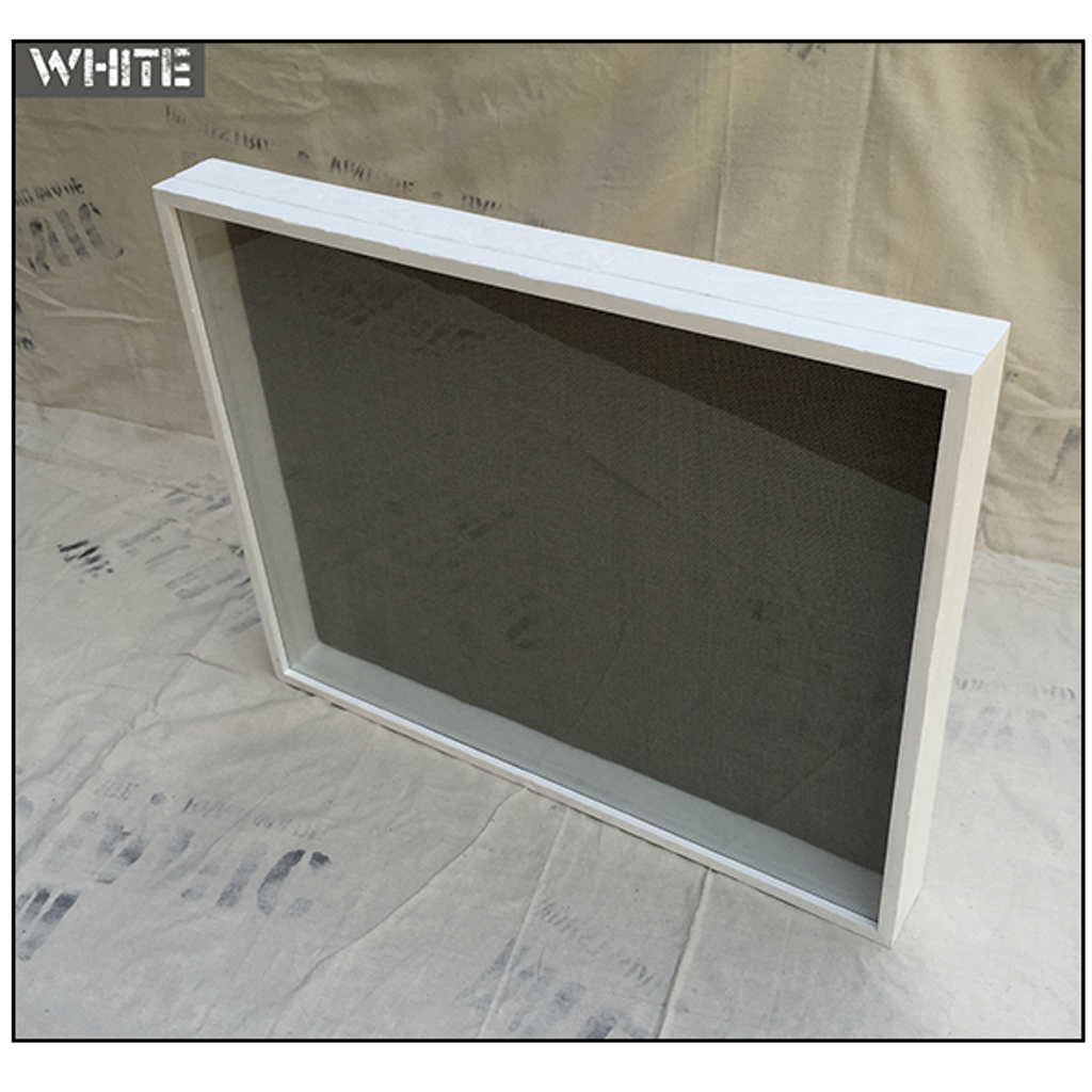 "Shadow Box - Artisan Rustic -35"" W x 7"" H x 6"" D White"
