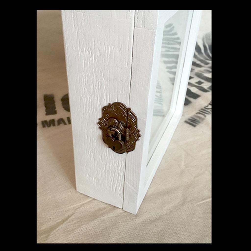 "Shadow Box - Artisan Rustic Treasure Box - 10"" W x 10"" H x 3"" D"
