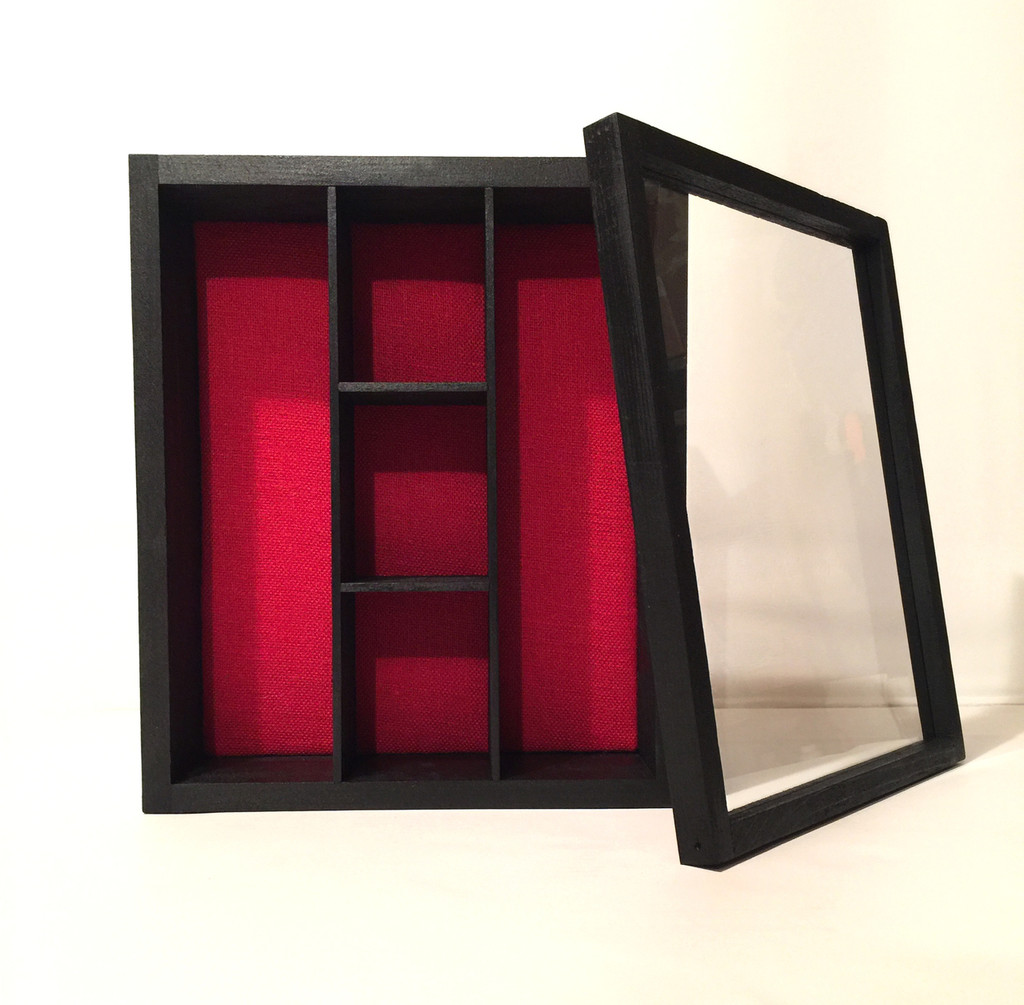 "Shadow Box - Artisan Rustic- 14"" W x 17"" H x 4"" D with 5 Compartment Shelving"
