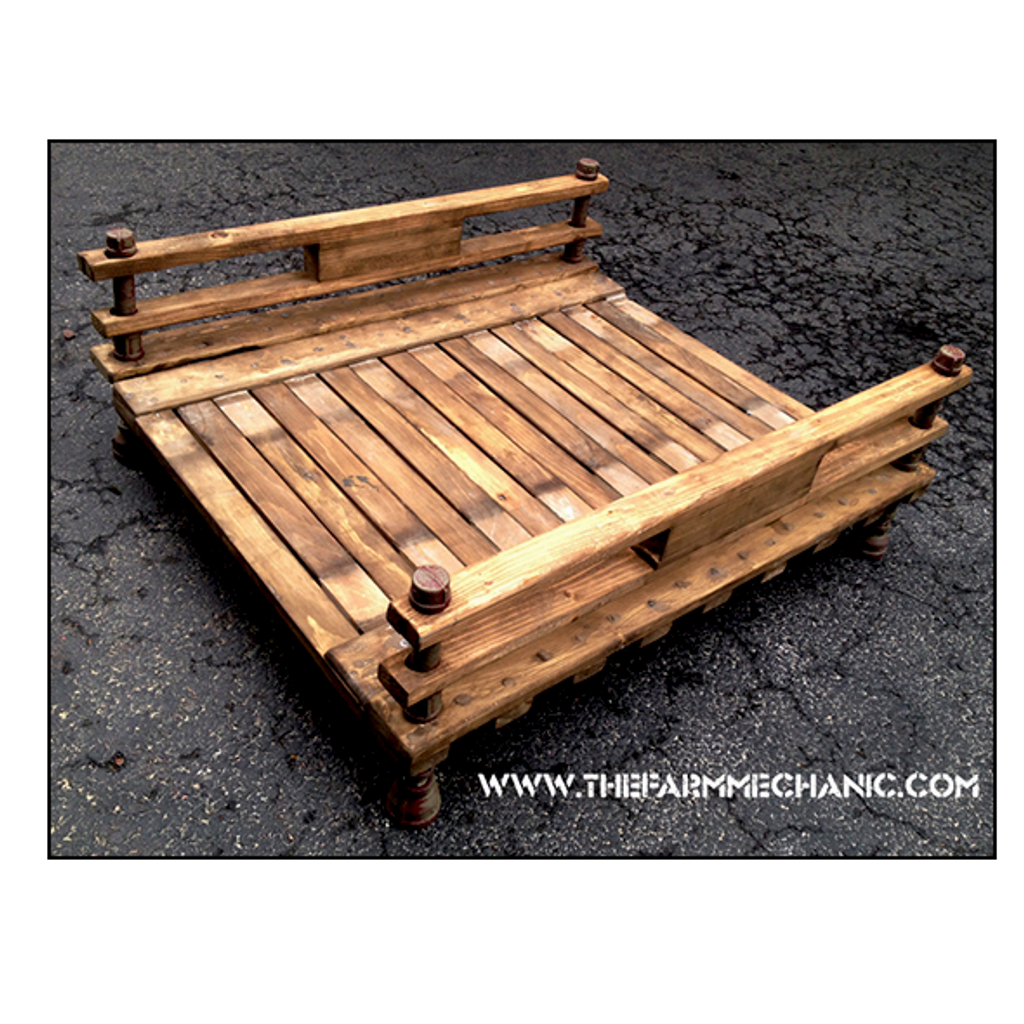 Industrial Rustic Dog Bed Futon