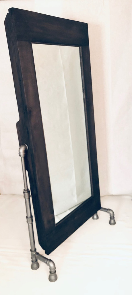 Artisan Floor Mirror with Black Pipe Legs