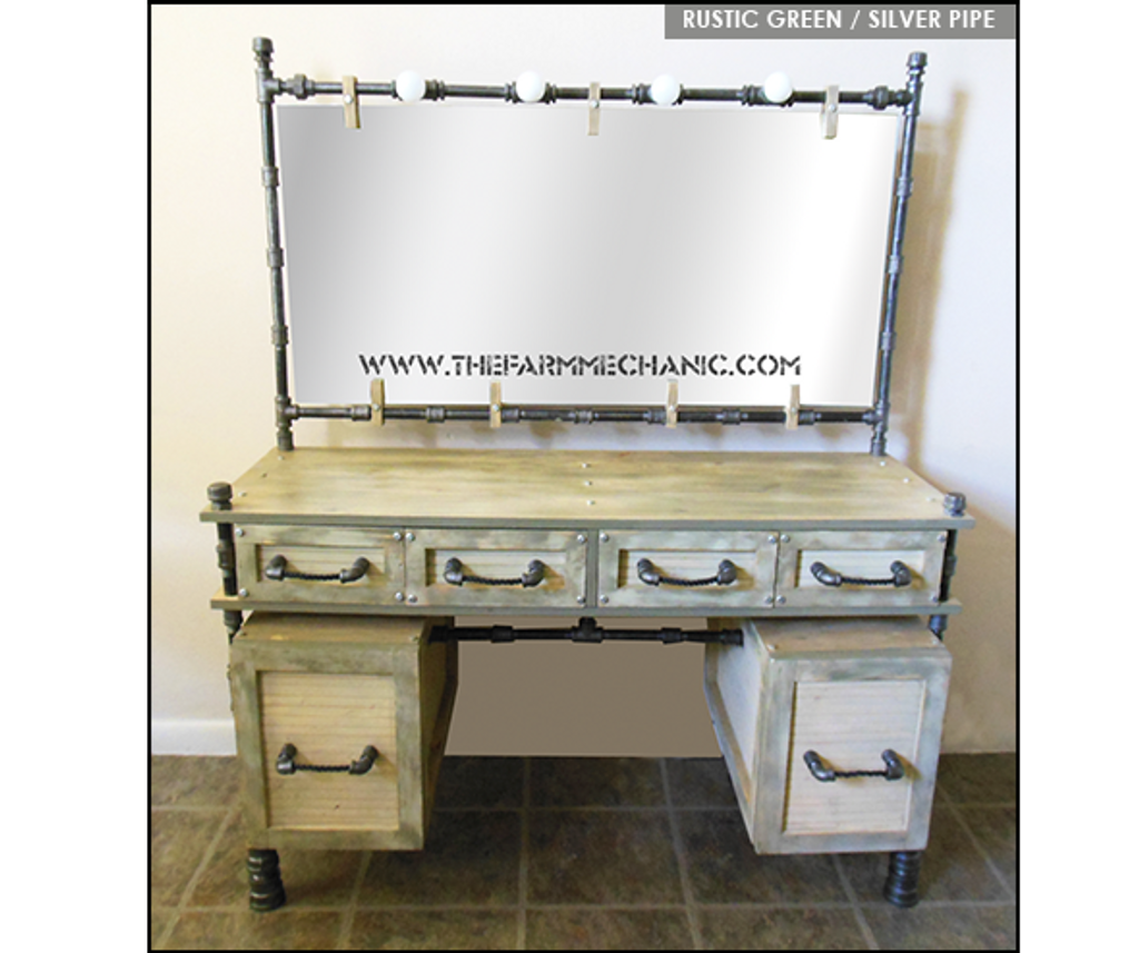 Artisan Farmhouse Makeup Vanity The Farm Mechanic