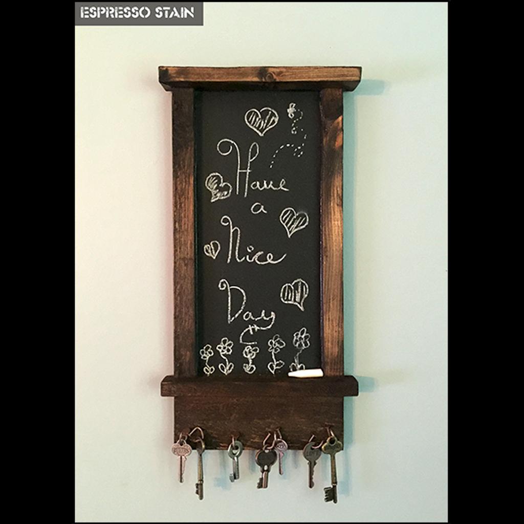Artisan Chalkboard with Magnetic Key Holder