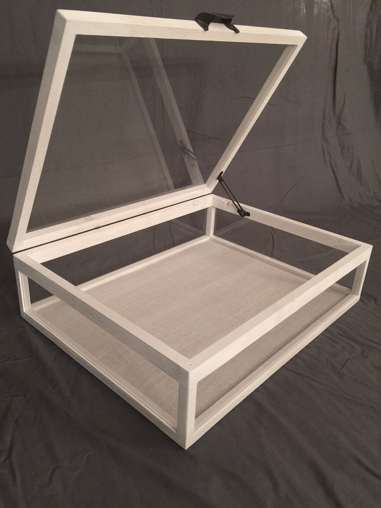 "Jewelry Display Case | Artisan Rustic 5-Way Glass Display Case - 25"" x 19"" x 6""D"