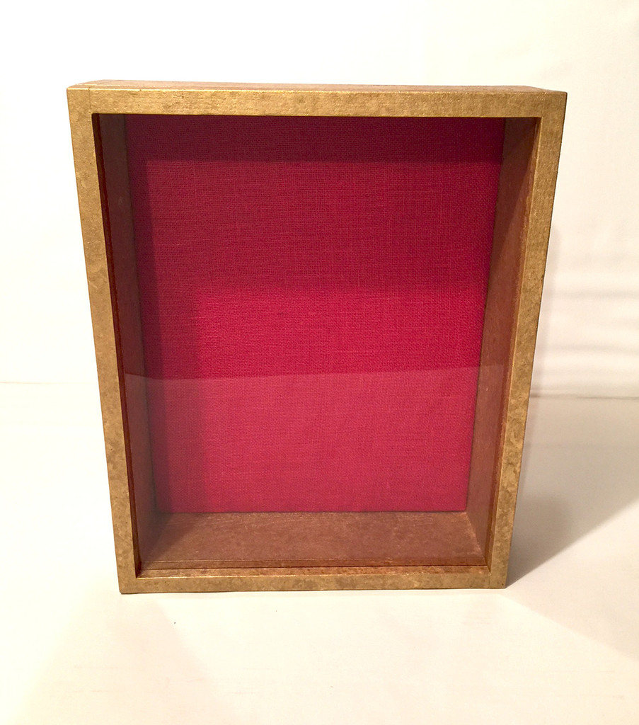 "Burnished Shadow Box - 16"" x 20"" x 4""D 