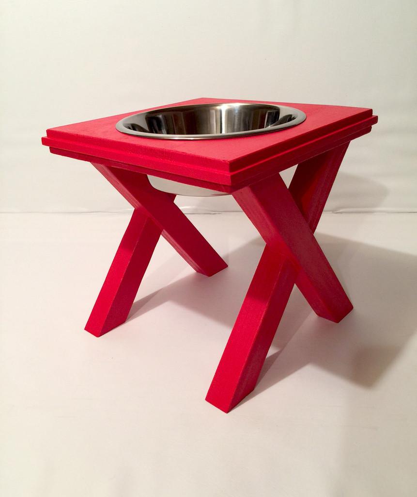 Artisan Raised Dog Bowl Stand - Large