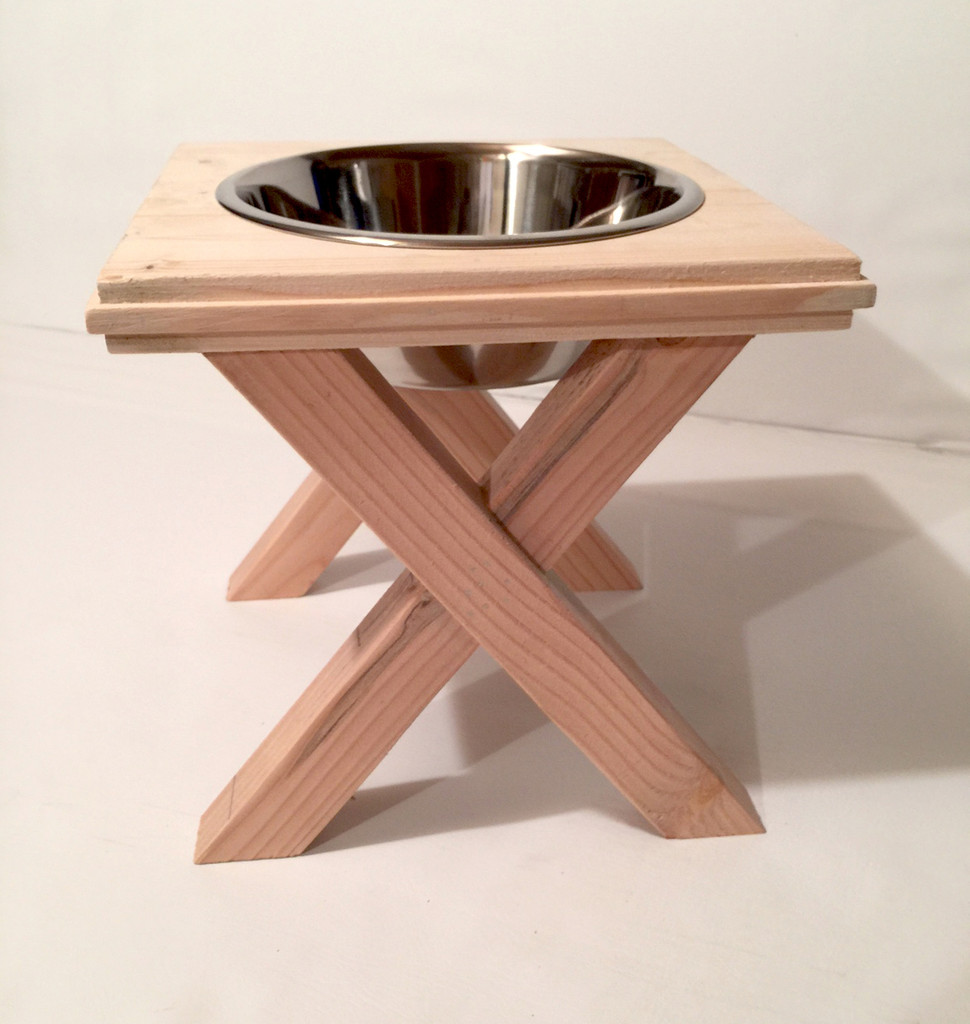 Artisan Raised Dog Bowl Stand - Large