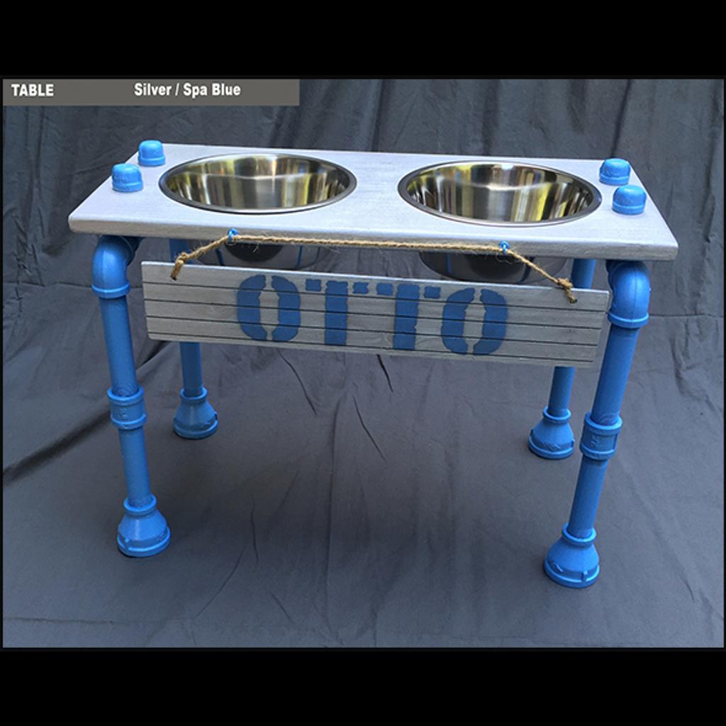 "Raised Dog Bowl Stand -Medium  - 10""H"
