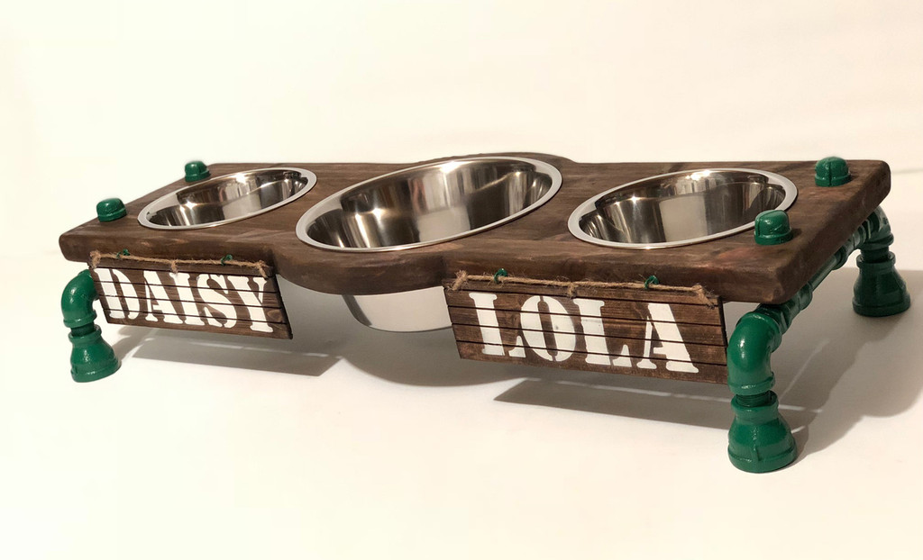 "12""H Multi-Dog Feeding Station 