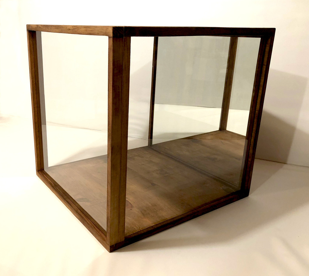 "20""W x 20""H x 20""D Glass Display Case"