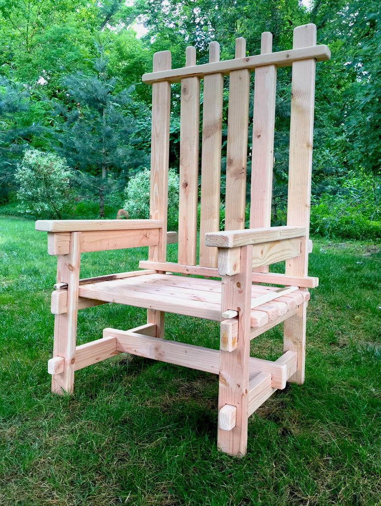 Event Decor Rental | Wooden Adirondack Chair