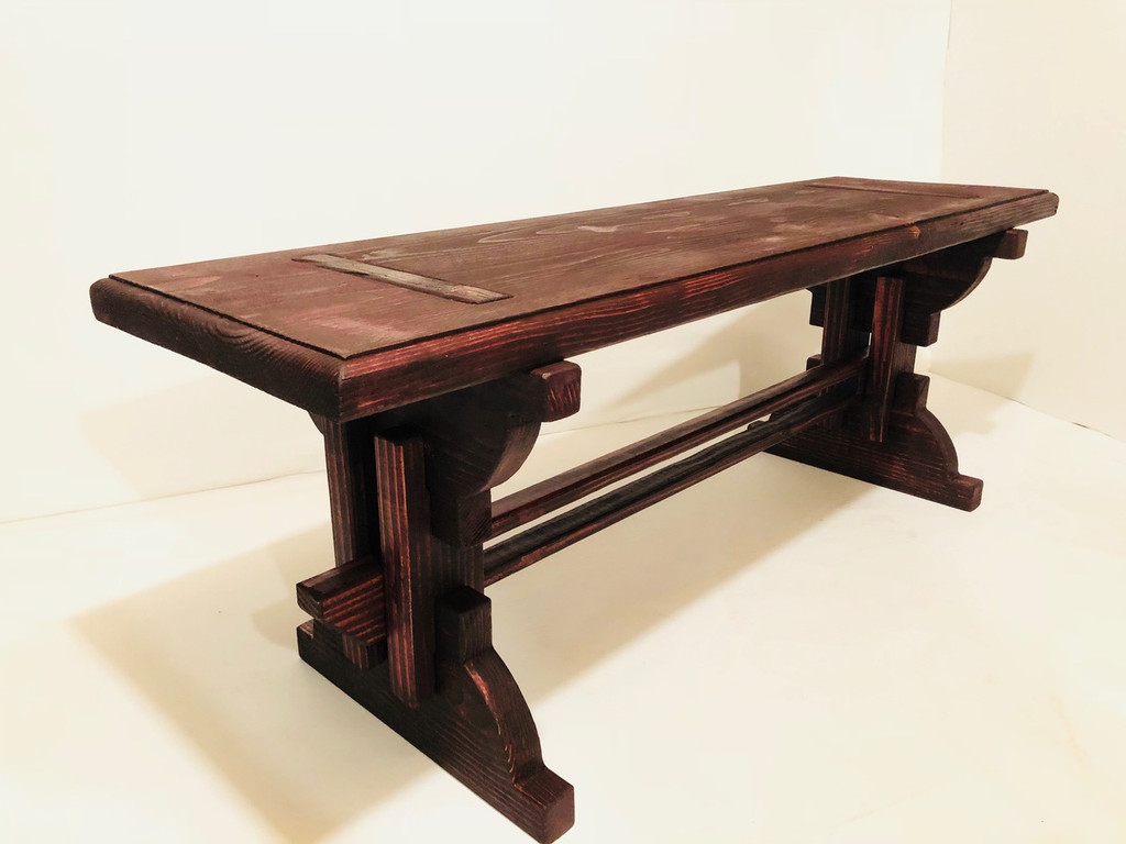 Artisan Outdoor Bench  Black Cherry